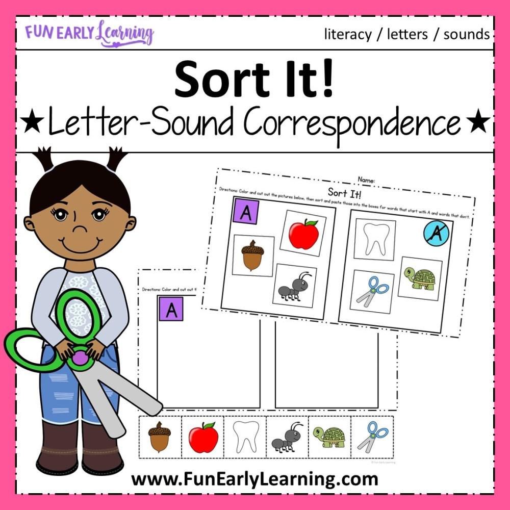 medium resolution of Sort It! Letter-Sound Correspondence NO PREP Activity for Phonics