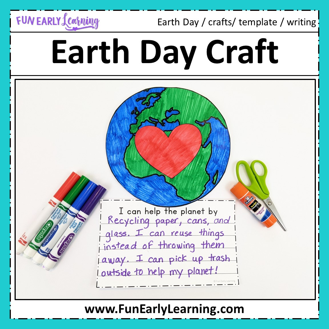Earth Day Craft And Writing Prompts For Preschool And Kindergarten