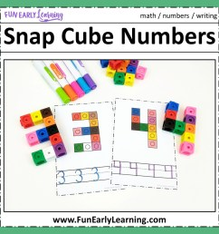 Snap Cube Numbers - Hands-on Math Activity for Number Identification [ 1152 x 1152 Pixel ]