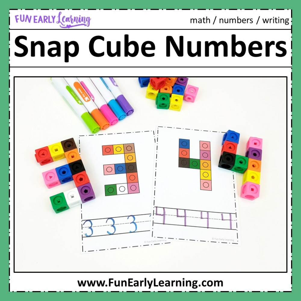 medium resolution of Snap Cube Numbers - Hands-on Math Activity for Number Identification