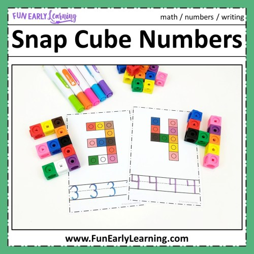 small resolution of Snap Cube Numbers - Hands-on Math Activity for Number Identification