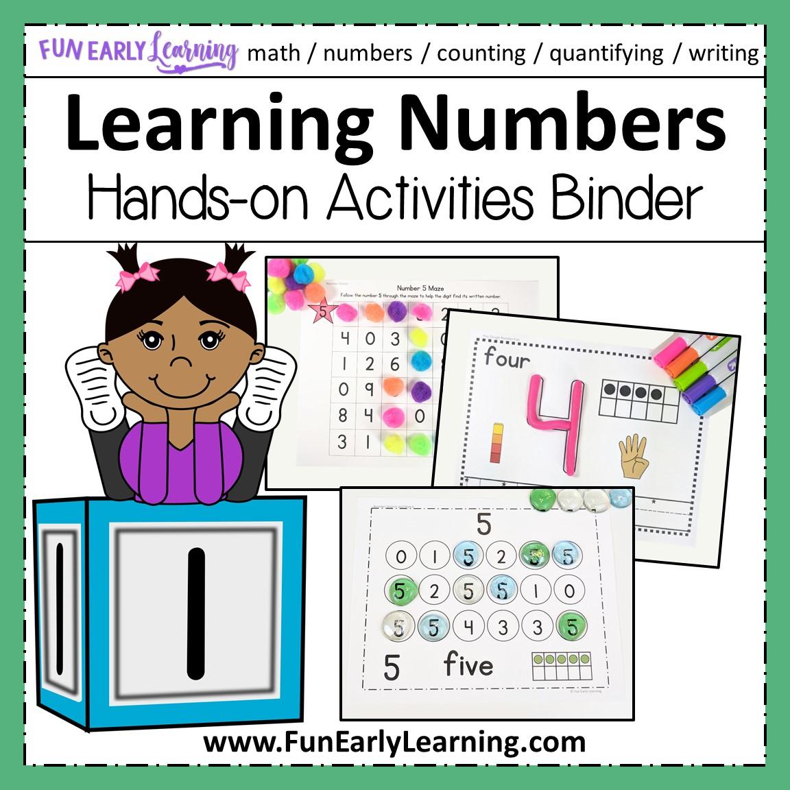 Learning Numbers Hands On Activities Binder For Preschool