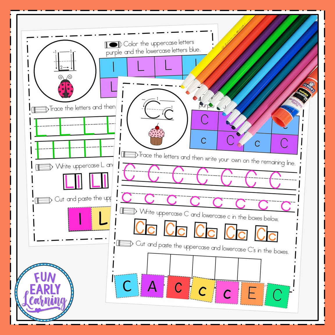 Handwriting Activity Sheets For Letter Formation And Fine