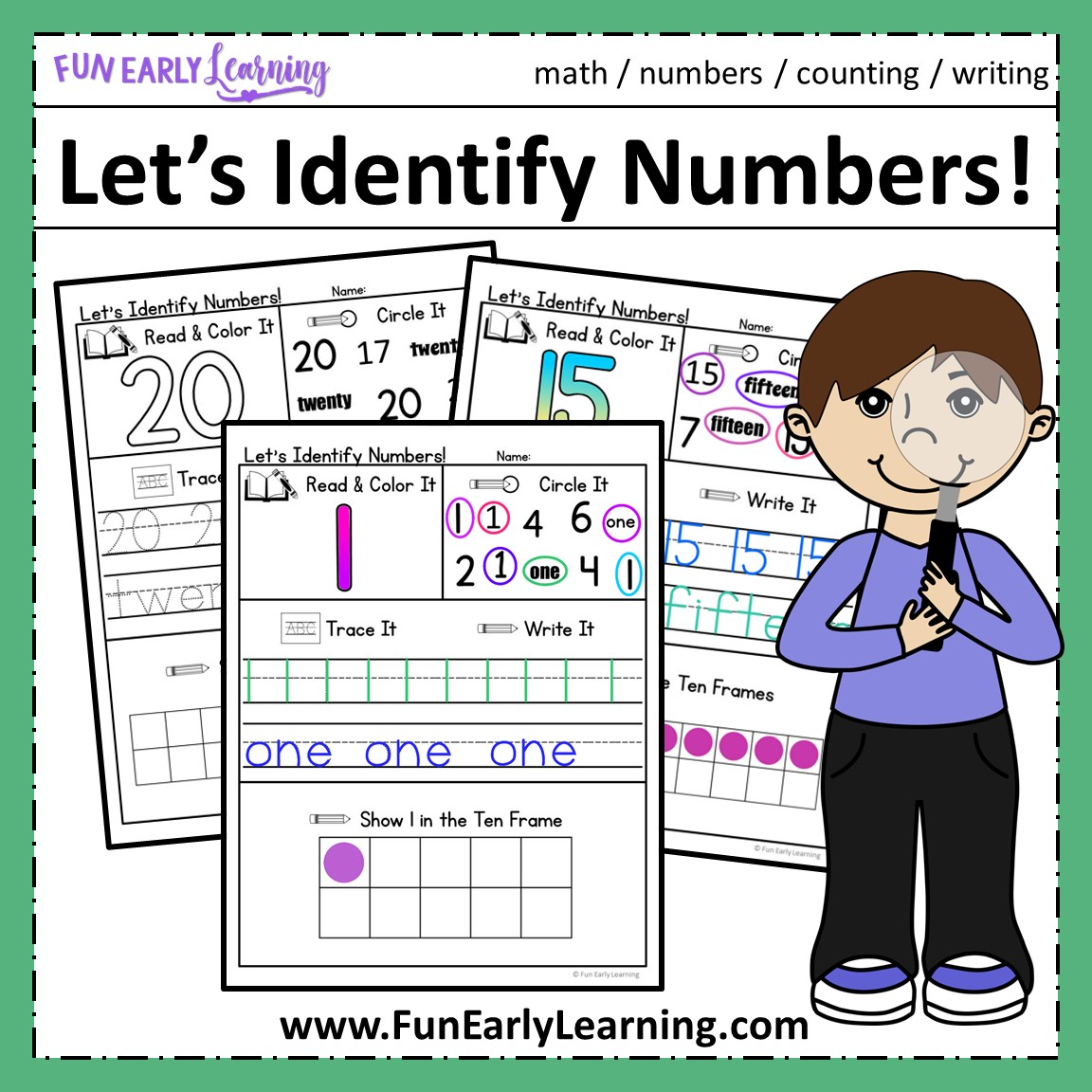 Let S Identify It Number Recognition Activities For