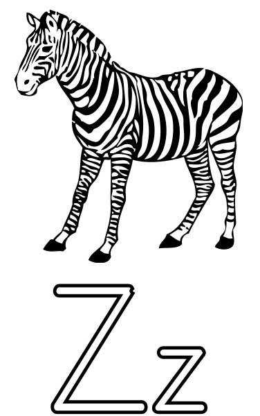 Zebra Coloring Page Printable Worksheets For Kids