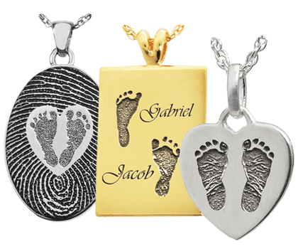 baby footprint jewelry necklace