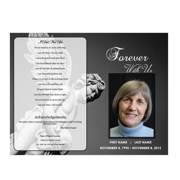 Angel Funeral Program Funeral Pamphlets
