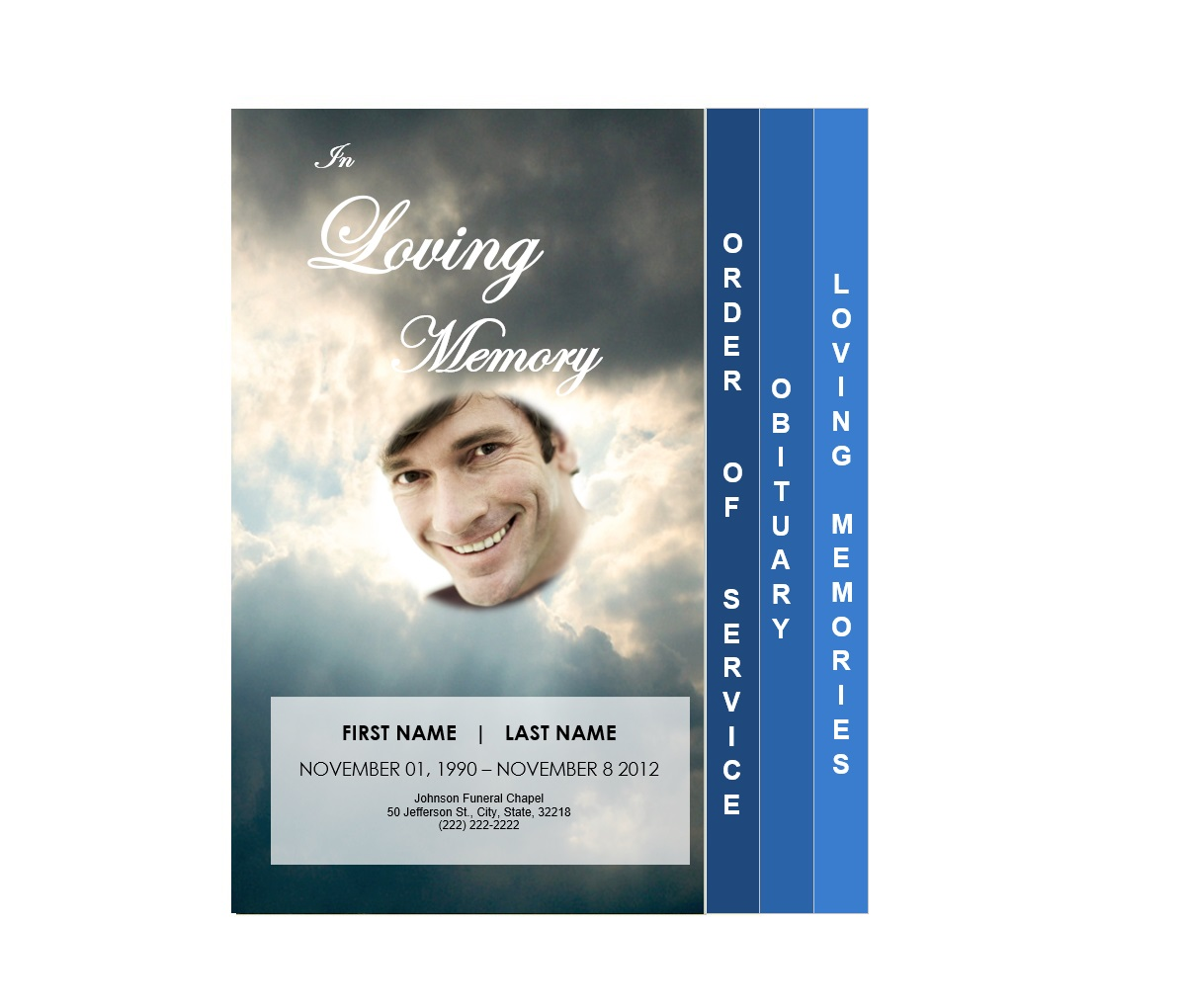4 Page Graduated Outdoor 3 Program Funeral Pamphlets
