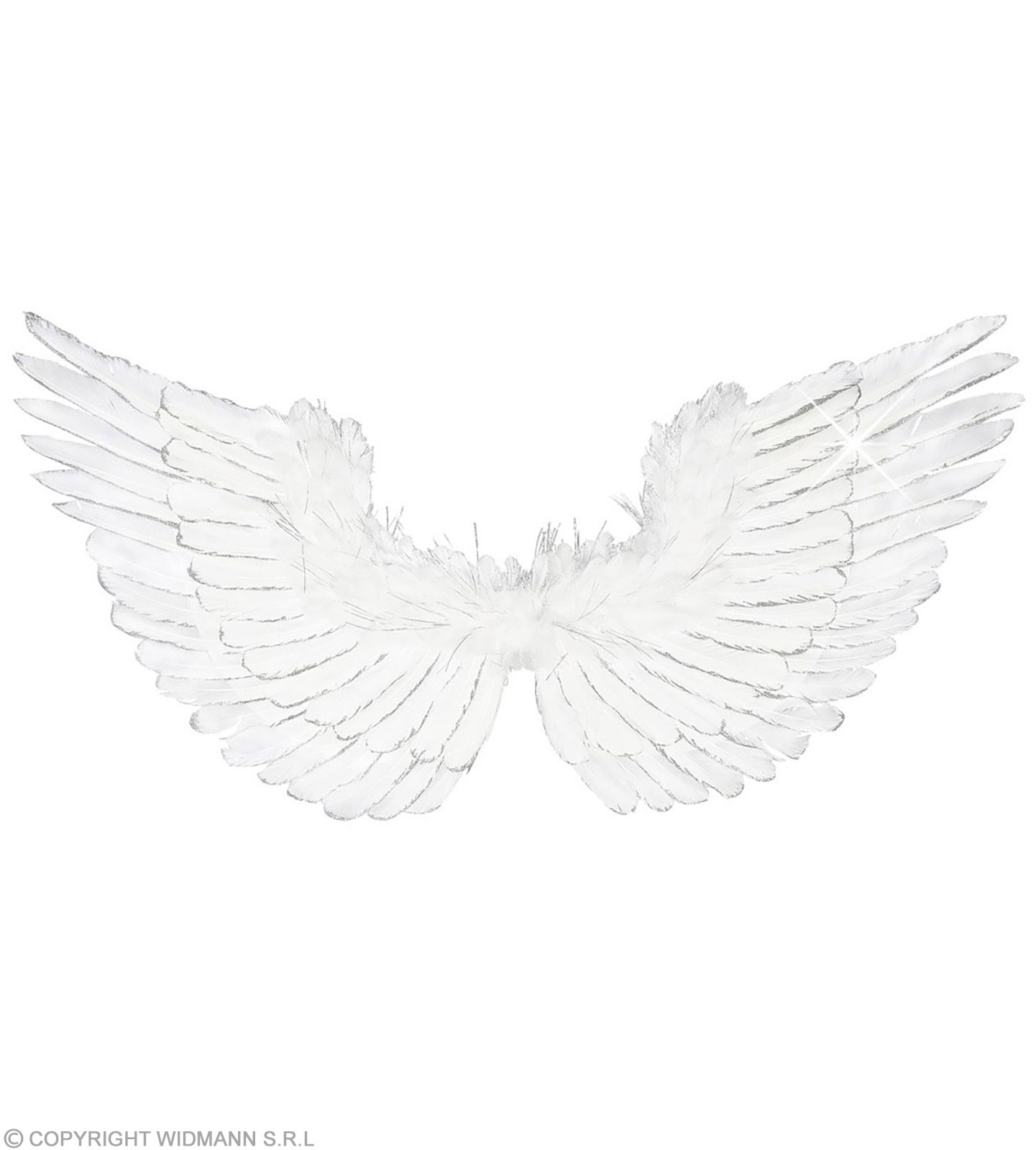 Buy White Feathered Wings Silver Glitter 86X42, Fancy