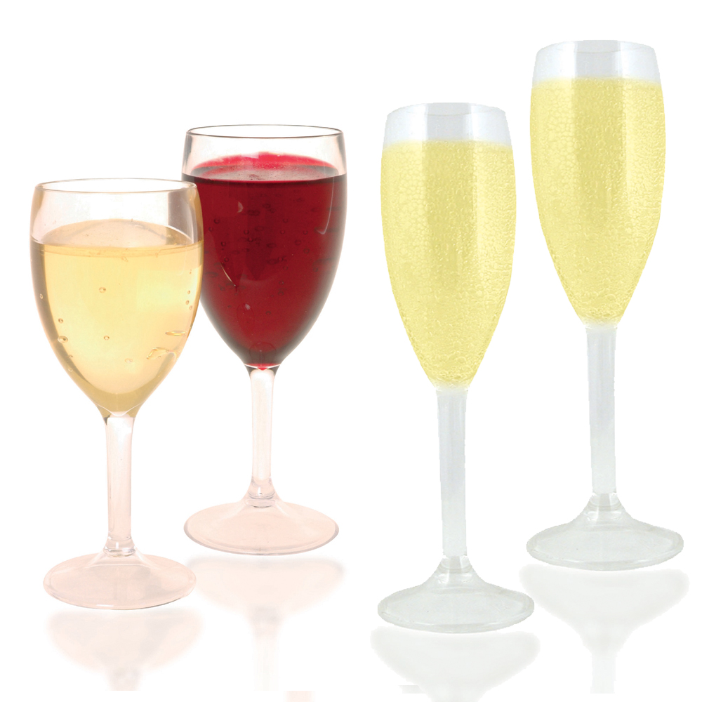 Spa Safe Wine Glasses Champagne Flutes