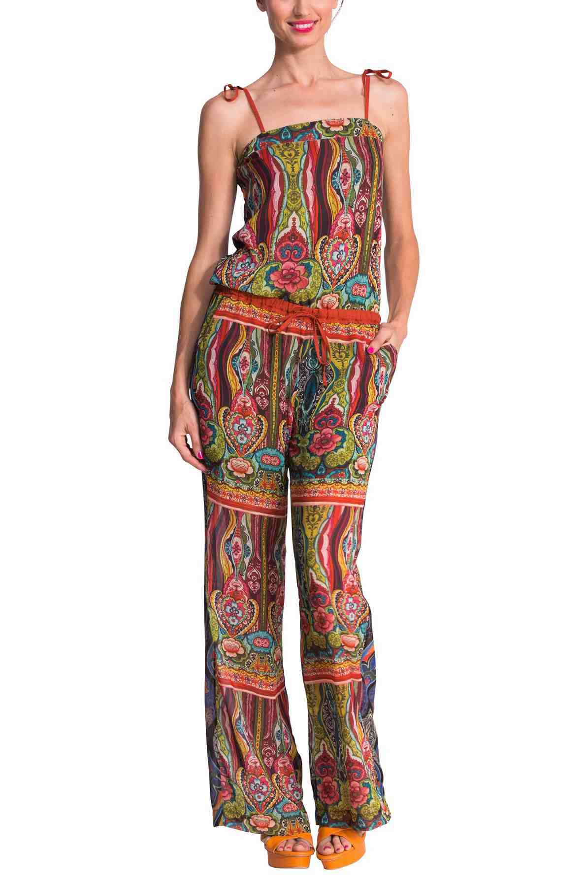 Buy DESIGUAL Pants NEREA 51P26D7  Colourful Overall Pants