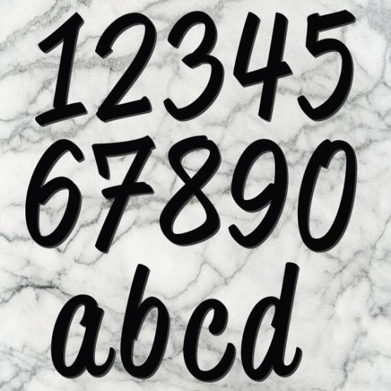huisnummer script zwart