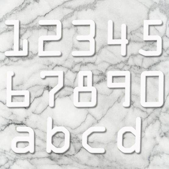 Huisnummer digital wit
