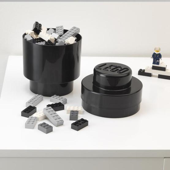 lego storage rond zwart