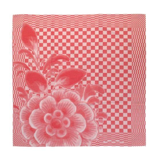tea towel red design bigger flower