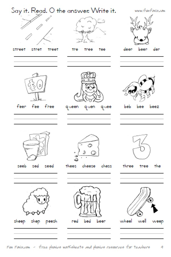 Fun Fonix Book 4: vowel digraph and dipthong worksheets