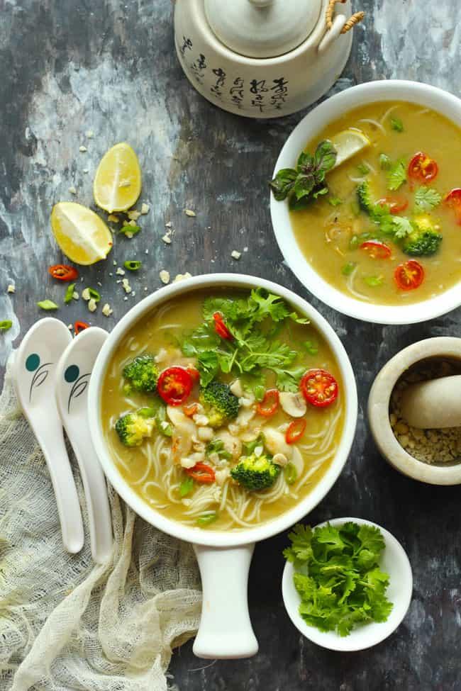 Vegan Thai Green Curry Soup Recipe - Fun FOOD and Frolic