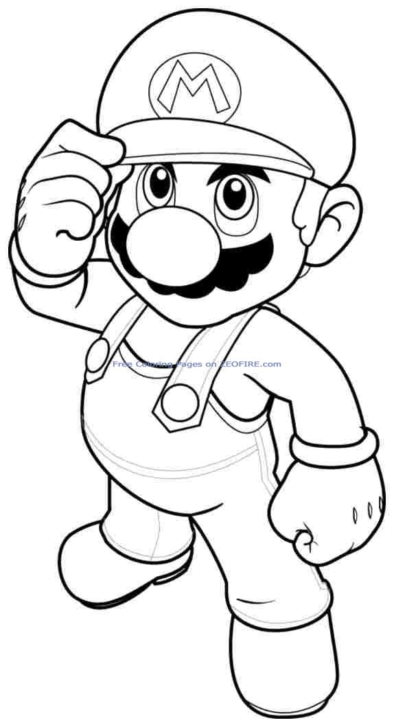 Free Coloring Pages Of Supermario Mask