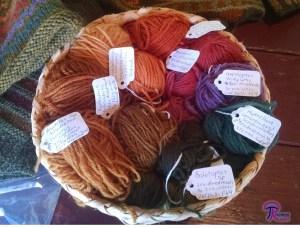 mushroom-dyed wool basket
