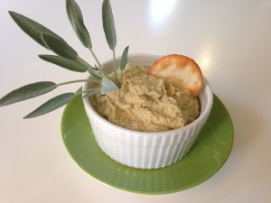Sage hummus a seed and nut free spread. http://www.funhappinessandlife.com/five-uses-for-sage