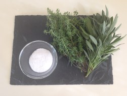 Ingredients needed for herb flavored salt are found in your herb garden. Drying sage to use during the winter months. http://www.funhappinessandlife.com/five-uses-for-sage