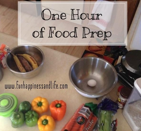 How one hour of food prep saves my sanity during the busy work/school week.