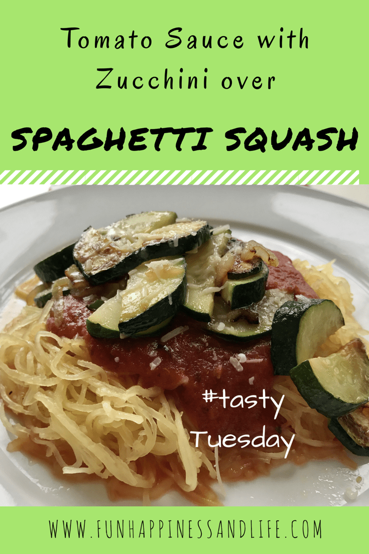 Spaghetti squash is a perfect substitution for pasta, with added toppings it becomes a vegetable lovers dream meal!