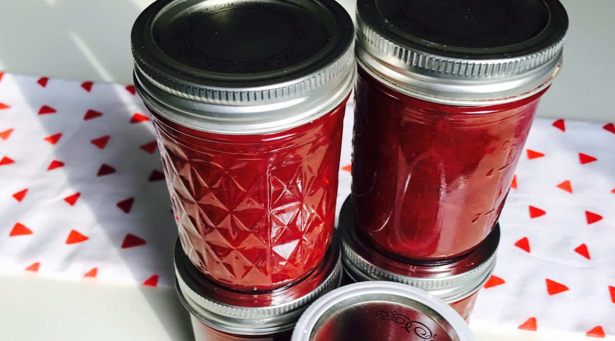 Homemade Rhubarb Preserves