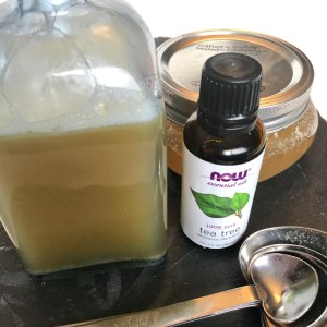 DIY Homemade Anti Aging face wash using raw honey, castille soap, probiotics and essential oils to keep your skin young, clear and moisture balanced.