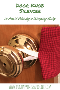 Door Knob Silencer. Quick and easy sewing project for nursery. New moms would love this functional gift to keep your door latch quiet when the door opens and closes.