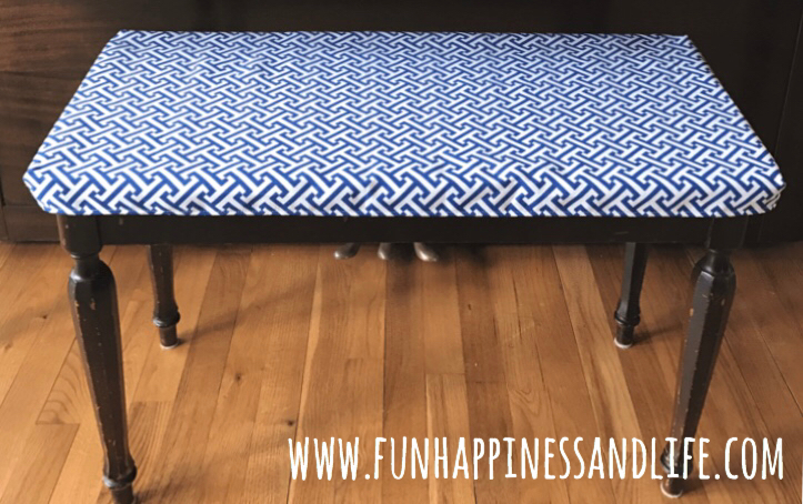 Piano Seat Cover: Homemade & Removable