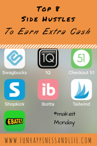 Do you enjoy extra cash in your pocket every month? Check out my 8 top side hustles that help me to fill my bank account without depleting my family time. #sidehustle