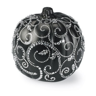 Pretty Blinged Out Halloween Pumpkin Diy Fun Holiday Crafts