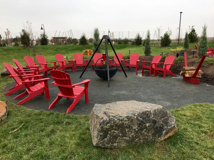 fire pit and adirondack chairs baby room 2 silos brewing brings craft brews food fun to manassas virginia
