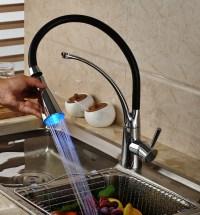 Tettegouche Chrome Finish LED Hot & Cold Water Kitchen ...
