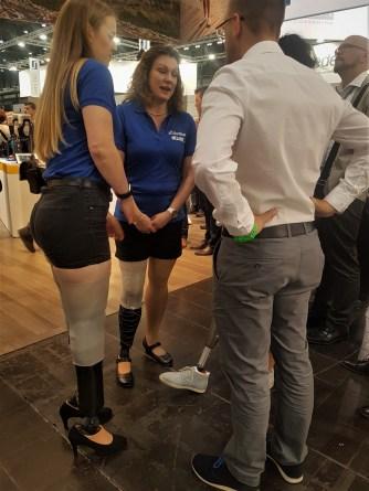 High heels on prosthesis
