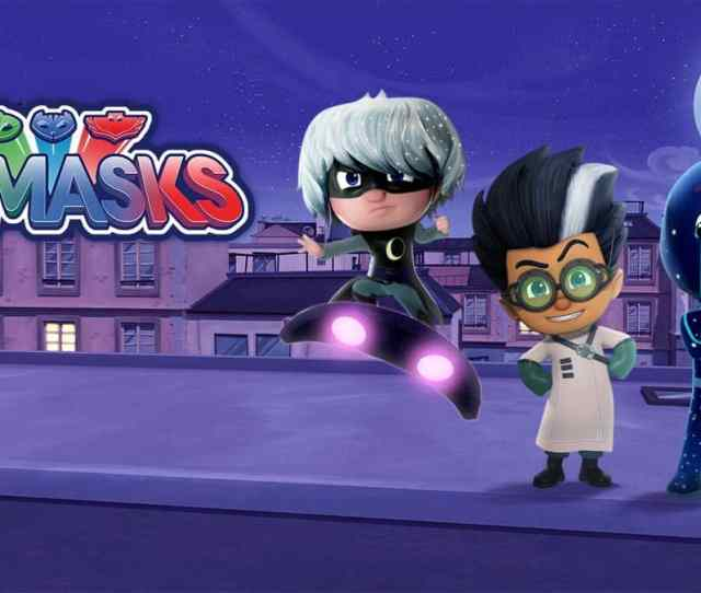 Meet Romeo Luna Girl And Night Ninja The Villains From Pj Masks Fun Kids The Uks Childrens Radio Station