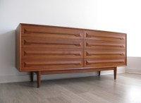 A large Danish teak chest of drawers