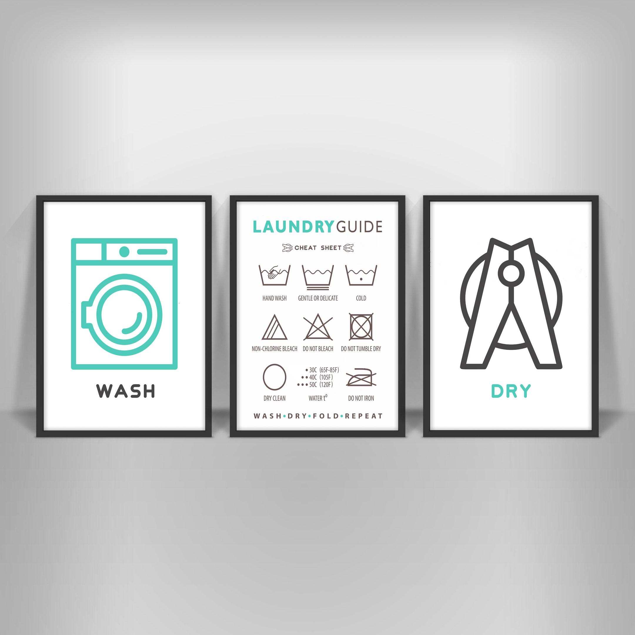 wasche pflege ratgeber print poster