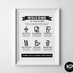 Bathroom Rules Print House Wall Picture Word Art Poster Funny Humour Toilet Sign Ebay