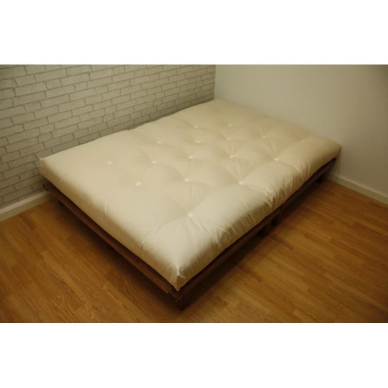 single pine futon sofa bed with mattress kidney uk nepal platform