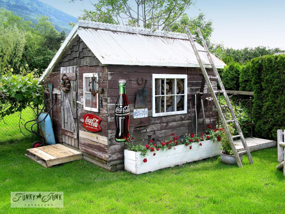 A junk filled summer home decorating tour  Funky Junk