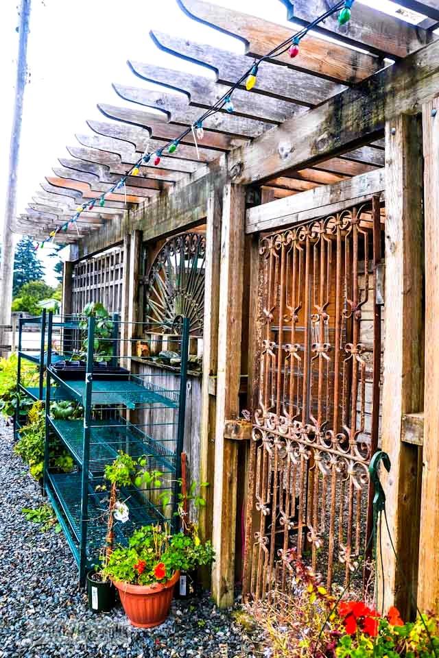 Reclaimed garden features at a Hope garden centreFunky Junk Interiors