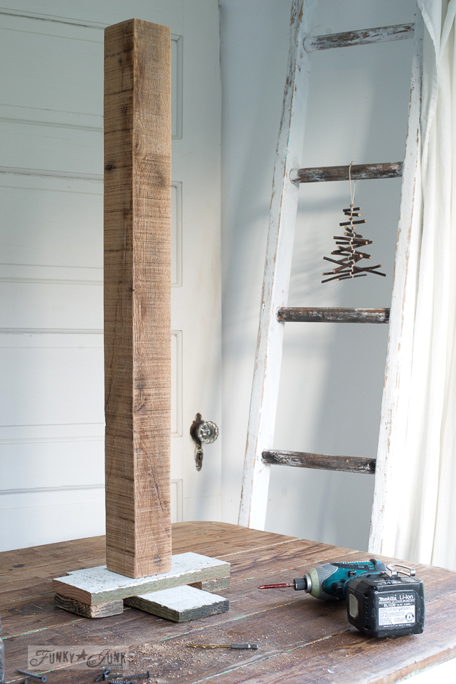 Scroogeless Reclaimed wood Christmas tree and starFunky