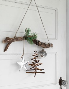 Rustic twig christmas tree ornament on  branch funkyjunkinteriors also branchfunky junk interiors rh