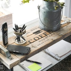 Kitchen Phone Changing Countertops In 2x4 Pipe Industrial Station Shelffunky Junk Interiors Shelf Using Funky S Old Sign Stencils Funkyjunkinteriors Net