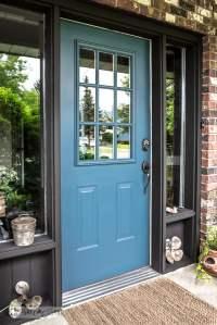Industrial front door redo with painting tipsFunky Junk ...