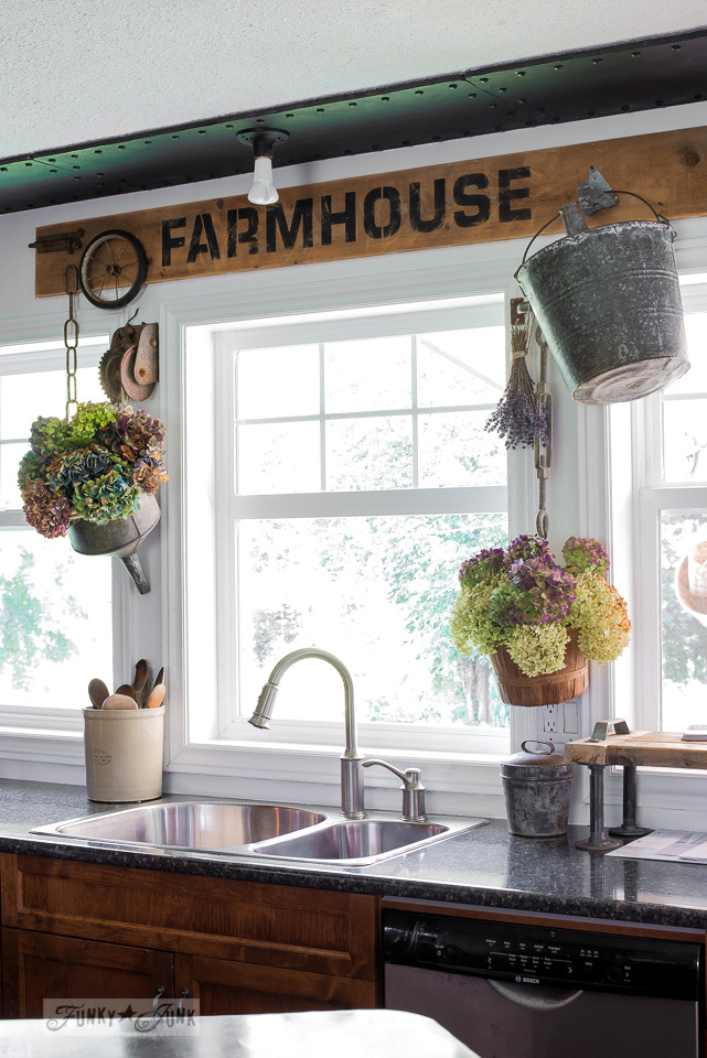 kitchen window valance grill industrial farmhouse sign and table sized stencils