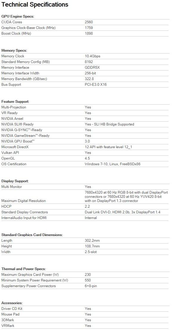 Inno3D iChill X3 GeForce GTX 1080 Review (8GB GDDR5X