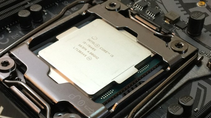 Overclocking the Core i5-7640X (Kaby Lake-X) to 5 1GHz in 3